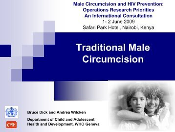 Traditional male circumcision - Clearinghouse on Male Circumcision ...