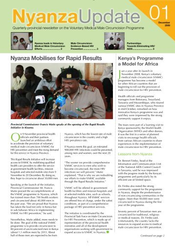 Nyanza Update: Quarterly provincial newsletter on the voluntary ...