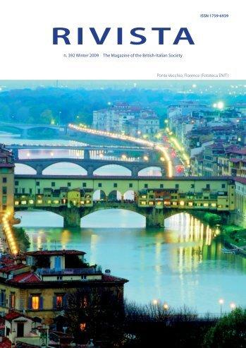 Download the Winter 2009/10 Rivista - British-Italian Society
