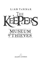The Keepers: Museum of Thieves - The Keepers by Lian Tanner