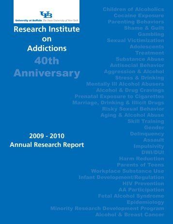40th Anniversary - Research Institute on Addictions - University at ...