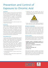 Prevention and Control of Exposure to Chromic Acid - HSE