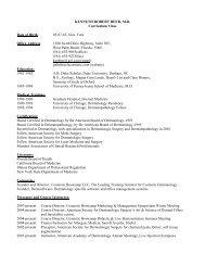 Dr. Kenneth Beer's Curriculum Vitae (Resume) - Kenneth Beer, MD ...