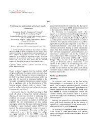 Synthesis and antioxidant activity of indolyl chromenes