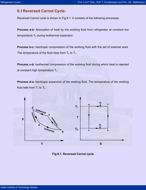 Draw The Reversed Carnot Cycle On P Manual Guide