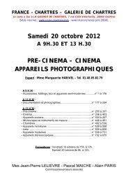 Samedi 20 octobre 2012 PRE-CINEMA - CINEMA ... - Interencheres