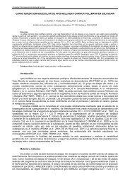 caracterizacion molecular de apis mellifera carnica ... - Apimondia