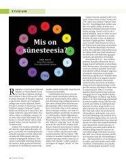 24 Ann Kuut. Mis on sünesteesia?