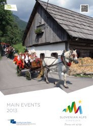 MAIN EVENTS 2013 - Slovenian Alps - Gorenjska