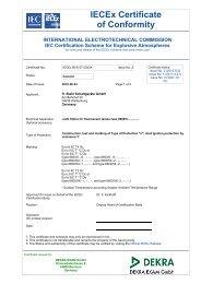 IECEx BVS 07.0023 X - r. stahl