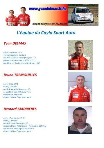 L'équipe du Cayla Sport Auto - Yvan Delmas