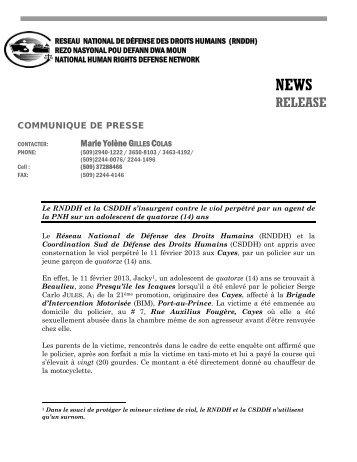 PDF – RNDDH/CSDDH viol Cayes - Réseau National de Défense ...