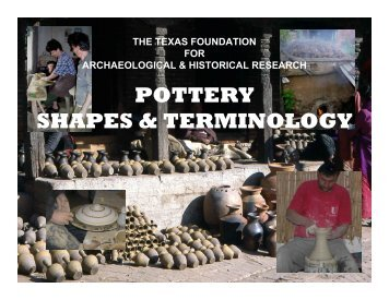 POTTERY SHAPES & TERMINOLOGY - TFAHR