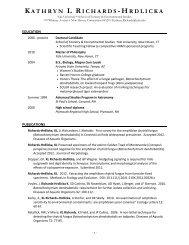 Elegant Resume - Yale School of Forestry & Environmental Studies ...