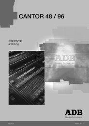 Modifikation einer Lichtstimmung im Playback-Vorbereitungsregister