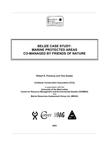 belize case study: marine protected areas co-managed ... - CERMES
