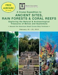 ANCIENT SITES, RAIN FORESTS & CORAL REEFS - Travdyn.com