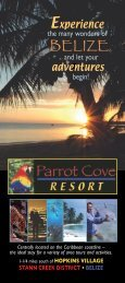 Belize resort Brochure - Design for Print & Web