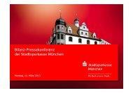 Bilanz-Pressekonferenz der Stadtsparkasse München