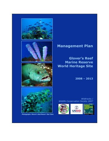 Management Plan - Glover's Reef Marine Reserve