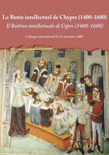 Le Butin intellectuel de Chypre (1400-1600) - Nuovo Rinascimento