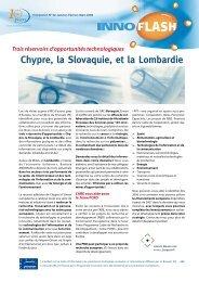 Chypre, la Slovaquie, et la Lombardie Trois réservoirs d ... - ABE