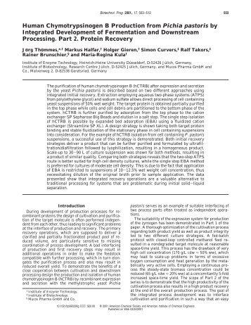 Human Chymotrypsinogen B Production from Pichia pastoris by ...