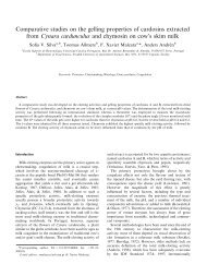Comparative studies on the gelling properties of cardosins extracted ...