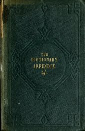 The dictionary appendix and orthographer containing upwards of ...
