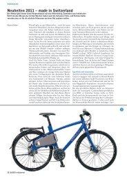 Neuheiten 2011 – made in Switzerland - TDS RAD