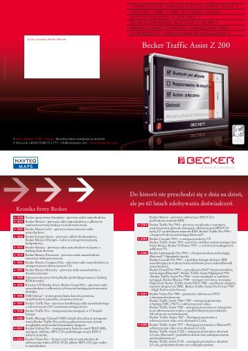 Becker Traffic Assist Z 200 - Becker Polska