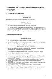 Satzung über das Friedhofs- und Bestattungswesen der Stadt Treuen