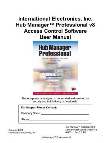 IEI Hub Manager Professional v8 - Linear