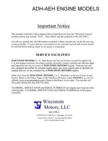 Repair Wisconsin Motors Review Ebooks