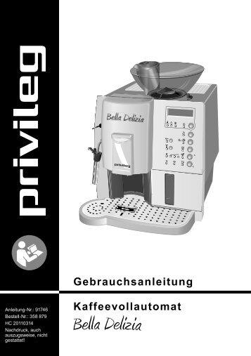 Gebrauchsanleitung Kaffeevollautomat - Schwab