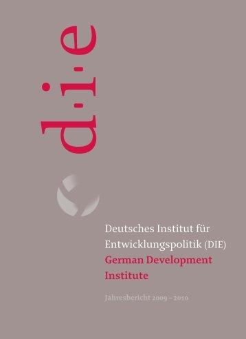 Jahresbericht 2009 - Deutsches Institut für Entwicklungspolitik