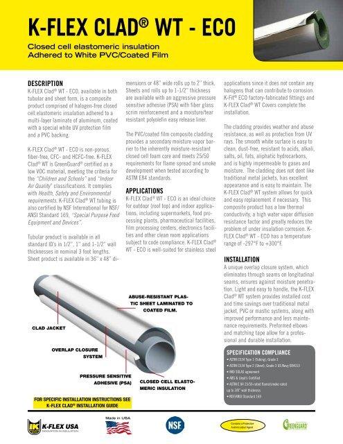 "1//2/"" 36/"" x 48/"" K-Flex USA NBR//PVC Based Elastomeric Insulation Sheet"