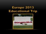 Europe 2013 parent meeting - Calgary Board of Education