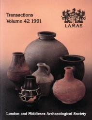 Vol 42 - London & Middlesex Archaeological Society