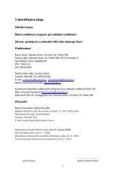 příklady zavedení datovacího profilu