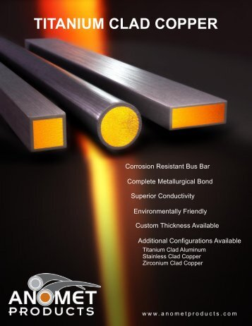 TITANIUM CLAD COPPER - Anomet Products, Inc