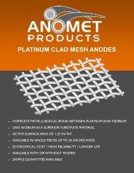 PLATINUM CLAD MESH ANODES - Anomet Products, Inc