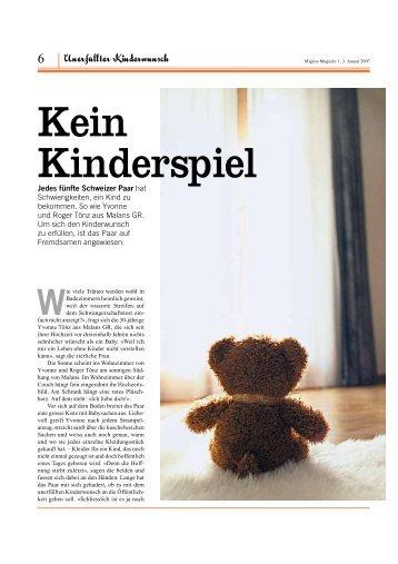 Kein Kinderspiel - maennerarzt.ch