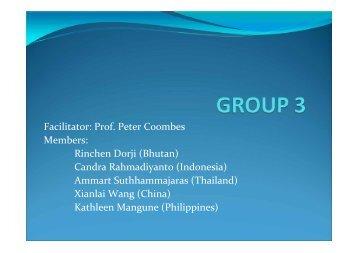 Discussion Group 3 - escap