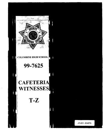 Cafeteria Witnesses T-Z (pp. 4579-838) - Evan Long