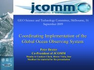 Coordinating Implementation of the Global Ocean Observing System