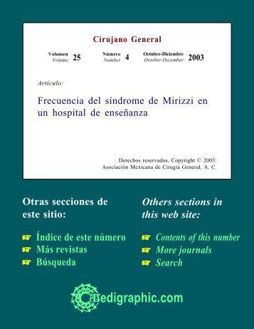 Frecuencia del síndrome de Mirizzi en un hospital ... - edigraphic.com