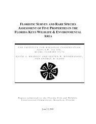 Report - Institute for Regional Conservation