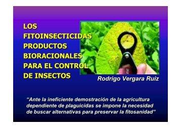 Los Fitoinsecticidas Productos Bioracionales para el ... - Cornare