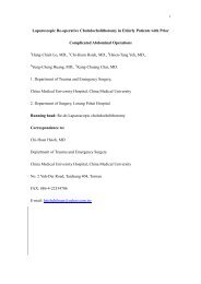 Laparoscopic Re-operative Choledocholithotomy in Elderly Patients ...